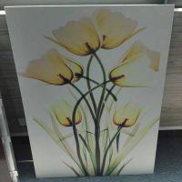 3D打印技术彩绘铝单板鲜花景物彩描幕墙电视背景墙广东生产