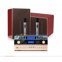 狮乐木制箱蓝牙功放K555C无线话筒SH19家用KTV音响 家庭卡拉OK客厅电视影院音箱套装