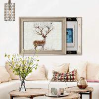 电表箱装饰画现代简约客厅壁挂北欧式配电箱遮挡信息电源盒风格画