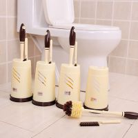 家用马桶刷厕所刷卫生间软毛刷子长柄去无死角清洁刷洁厕刷带底座