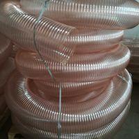 内夹镀铜钢丝pu通风除尘软管安阳耐磨损pu抽吸输送管规格140mm