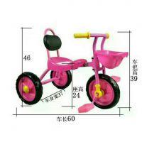 新款儿童三轮车带靠背脚踏小三轮车迷你简易宝宝可坐三轮童车单车