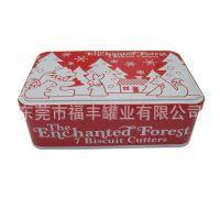 厂家直销 圣诞卡通模型金属盒 长方形食品包装马口铁盒 定制批发