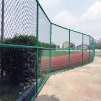 篮球场金属网墙 勾花铁丝网厂家 铁丝围栏防护网