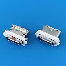沉板TYPE-C DIP+SMT防水母座/24PIN/外防水/四脚插板/USB 3.1