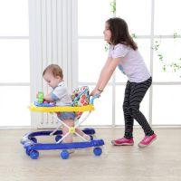 宝宝儿童婴儿学步车多功能6/7-18个月防侧翻助步手推可坐男孩女孩