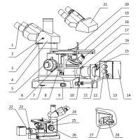 金相倒置显微镜结构图-带您认识显微镜各个部件-莱州峰志仪器