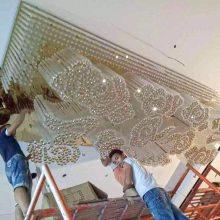 中山厂家定制宴会厅吸顶灯 宴会厅大型灯具定制 梅花管吸顶灯
