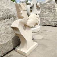 福建厂家直销情侣人物头像抽象雕塑雕刻 花岗岩石雕抽象雕塑 广场校园园林装饰摆件