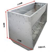 中原康地不锈钢大猪槽,干湿不锈钢料槽双面十孔