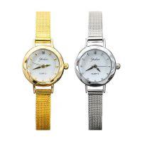 新品热销时尚合金网带女士手表 简约细网带小表盘女款石英手表