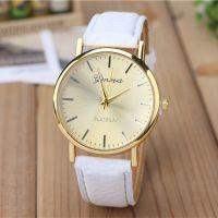 爆款超薄皮带手表 学生手表 女士时尚休闲男士表石英表日内瓦手表