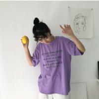 女装t恤短袖2019夏季新款 女韩版宽松大码休闲印花女装批发