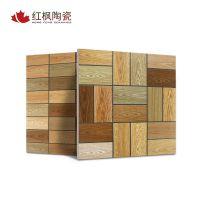 河北全瓷仿古瓷砖客厅地砖800*800仿木纹砖室内防滑地板砖批发