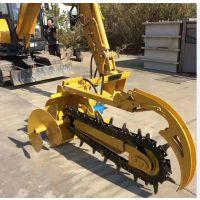 惠利挖掘机改装挖掘开沟一体机 打桩开沟机 开沟打桩机