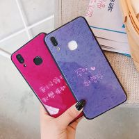 ins日韩风钢化玻璃手机壳苹果 简约oppor11硅胶套个性x21女款紫色
