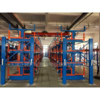 浙江钢材存放货架 伸缩悬臂式货架图片 钢材库仓储设备