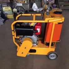 安装500锯片切割深度18公分水冷柴油路面切割机