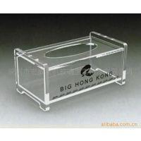 亚克力纸巾盒收纳盒长方形纸巾盒手抽纸盒巾手工餐巾纸盒