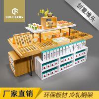 厂家直销饰品店创意堆头架超市环保免漆板堆头架饰品店钢木展示柜