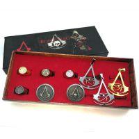 刺客的信条项链刺客起源 母亲缕空项链戒指九件套 康纳护身符