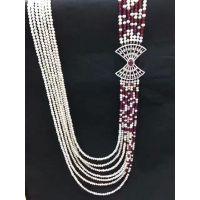 diy珍珠饰品配件材料微镶满钻 嵌镂空扇形毛衣链 项链搭扣