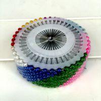 批发价彩色大头针 彩色珍珠 彩针 珠针 定位针 480枚/盒 超值