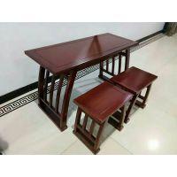 学习桌椅课桌椅书法桌椅古典中式实木仿古国学桌书法桌衡杨