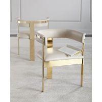 博卡伦2-587不锈钢时尚餐椅创意懒人化妆椅