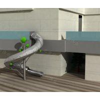 非标定制不锈钢滑梯 商场大型螺旋灯光滑梯 公园儿童滑梯游乐设备