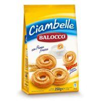 进口休闲食品饼干批发  原装意大利百乐可鲜奶油圈饼干 350g*12袋