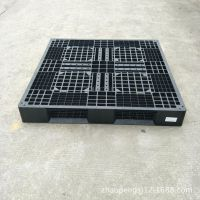 供应云南临沧塑料叉车栈板 加工定制黑色防静电托盘 塑胶卡板