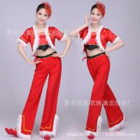 中国风打鼓服演出服民族风秧歌服女表演服腰鼓舞蹈服装成人广场舞