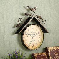 美式复古铁艺挂钟壁小鸟创意家居软装饰品墙饰咖啡厅墙面立体挂件