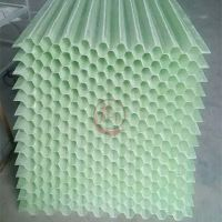 污水处理厂沉降池斜管填料玻璃钢六角蜂窝斜管填料1000*1000mm——河北龙轩