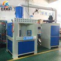 山东喷砂机厂家 圆盘类表面处理转盘式自动喷砂机
