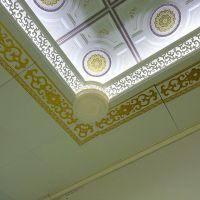 二级铝梁客厅天花吊顶镂空错层铝代石膏板厂家直销