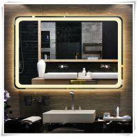 供应酒店卫生间壁挂智能LED灯镜 时尚简约铝合金包边发光镜