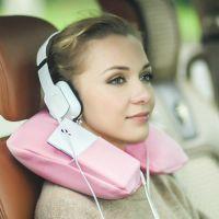 SAFEBET 充气U型枕头护颈枕颈椎保护飞机旅行午睡枕