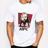 权利的游戏T恤 创意HFC山姆大叔印花T恤短袖修身T恤男一件代发