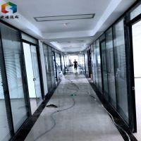 徐州办公室隔断移动隔断墙磨砂玻璃与铝合金搭配