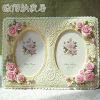 5吋一件起混批玫瑰花蕾丝花纹田园树脂欧式影楼相框相架日韩风格