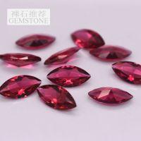 马眼形玫红玻璃宝石裸石 水钻手机壳材料 饰品DIY配件