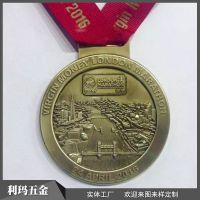 工厂定制红铜冲压挂牌城市马拉松终点纪念奖牌现款高档铜牌可混批