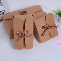 义乌厂家批发包装礼盒可定制淘工厂蝴蝶结礼品盒批发牛皮纸盒定做