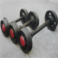 真诚是美德铁路矿山配件空心 实心矿车轮对 意林