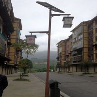 重庆丰盛镇仿古庭院灯4-6米太阳能庭院灯20瓦LED锂电池 长悦照明生产直销