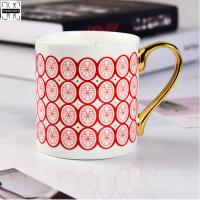 唐山瓷亿美批发金把骨瓷水杯 创意陶瓷马克杯使用礼品咖啡杯 广告杯定制LOGO