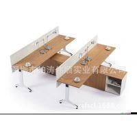 办公家具简约现代职员办公桌 员工电脑桌椅4人