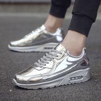 金色银色韩版气垫鞋男学生青少年休闲运动鞋男鞋跑步鞋潮鞋板鞋潮